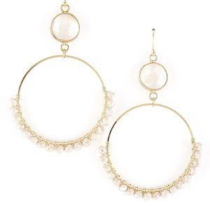 Jewelry - Dainty Beaded Hoop Earrings